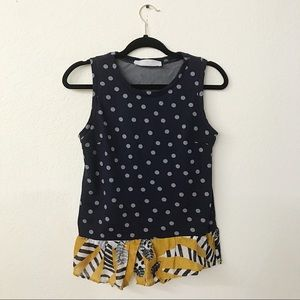Thakoon Addition Polka Dot Contrast Tank